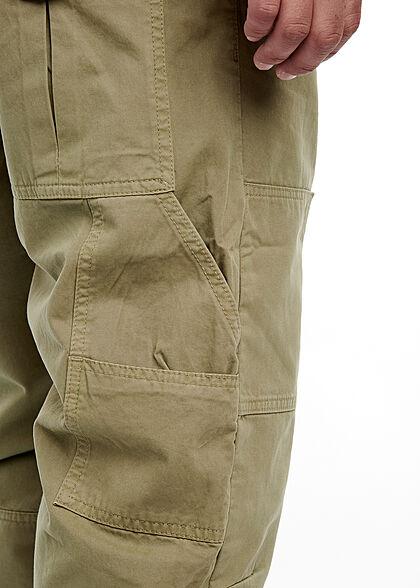 Southpole Herren Cargo Hose 5-Pockets Zipper am Bündchen khaki