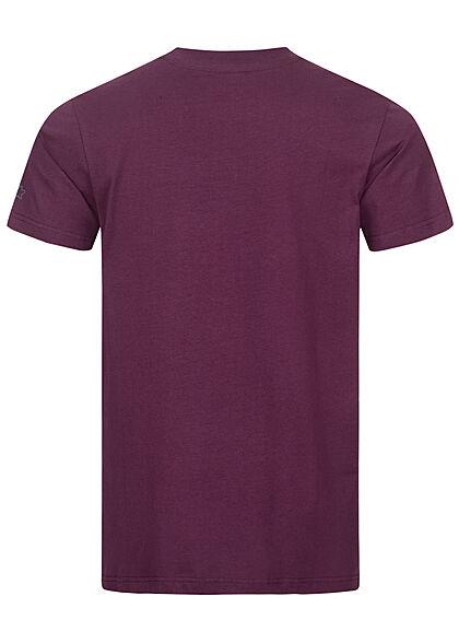 Starter Herren T-Shirt Logo Print dunkel lila