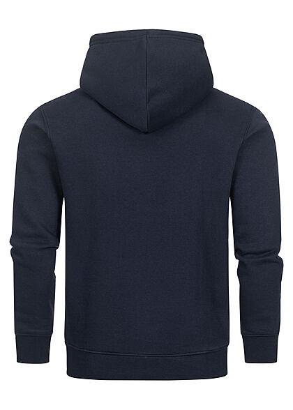 Champion Herren Basic Hoodie aus Baumwollfrottee mit Kapuze Kängurutasche dunkel blau