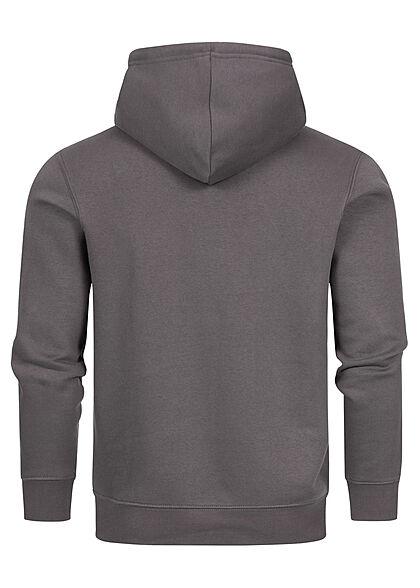 Champion Herren Basic Hoodie aus Baumwollfrottee mit Kapuze Kängurutasche dunkel grau