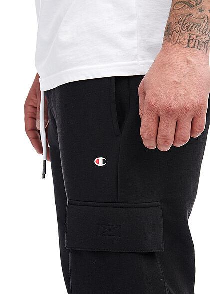 Champion Herren Cargo Jogginghose mit Bündchen 4-Pockets schwarz