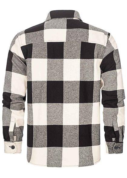 ONLY & SONS Herren NOOS Karohemd mit Knopfleiste 2 Brusttaschen schwarz beige