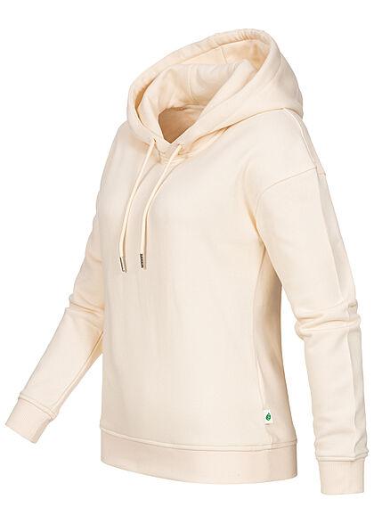 Urban Classics Damen Basic Organic Hoodie Kapuze Rippblenden whitesand beige