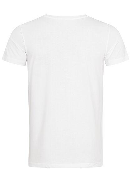 Tom Tailor Herren T-Shirt Logo Print weiss schwarz