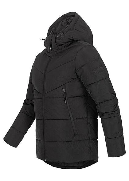 Tom Tailor Herren Winter Steppjacke mit abnehmb. Kapuze 4-Pockets schwarz