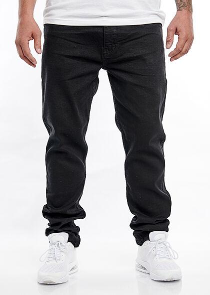 Hailys Herren Slim Fit Jeans Hose 5-Pockets schwarz denim
