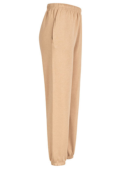 Hailys Damen Jogginghose Stoffhose High-Waist 2-Pockets camel braun