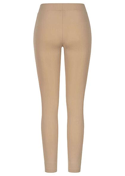 Urban Classics Damen Leggings Mesh Optik softtaupe beige