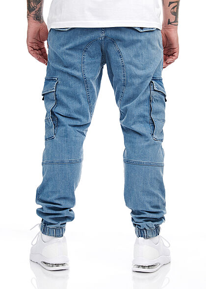 Jack and Jones Herren NOOS Jeans Cargohose 7-Pockets denim blau