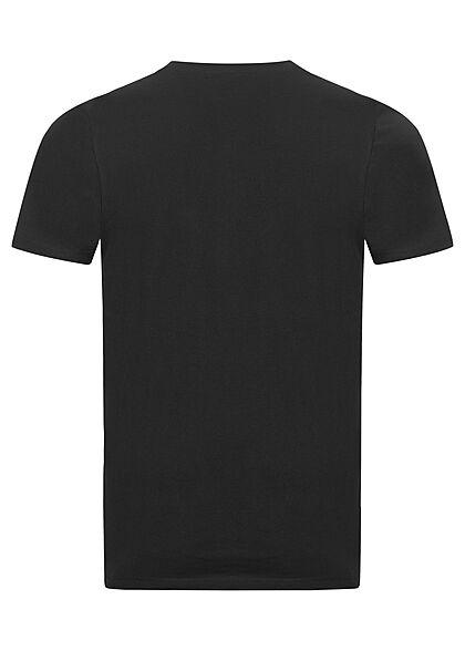 Tom Tailor Herren T-Shirt mit Logo Print schwarz