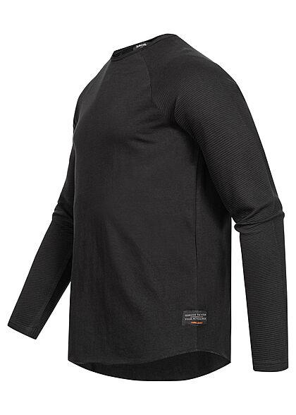Sublevel Herren Sweater Langarm Shirt schwarz
