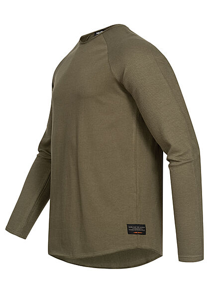 Sublevel Herren Sweater Langarm Shirt ivy grün