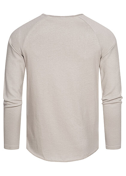 Sublevel Herren Sweater Langarm Shirt grau