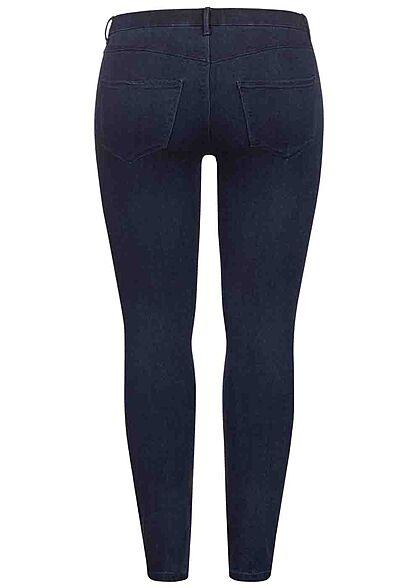 ONLY Carmakoma Damen NOOS Curvy Push-Up Skinny Jeans 5-Pockets dunkel blau denim