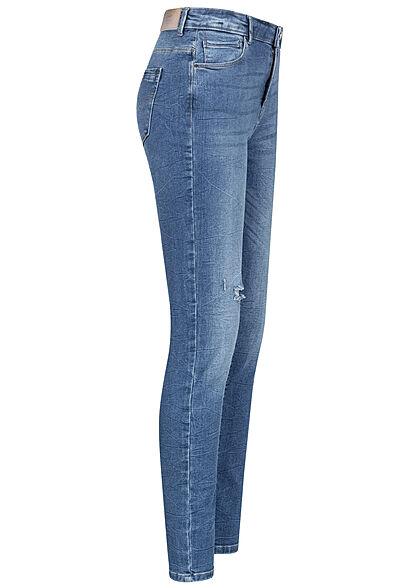 ONLY Carmakoma Damen NOOS High-Waist Curvy Skinny Jeans 5-Pockets hell blau denim
