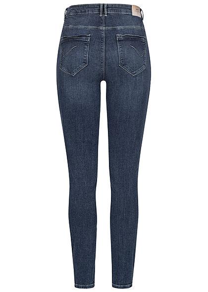 ONLY Carmakoma Damen NOOS High-Waist Curvy Skinny Jeans 5-Pockets dunkel blau denim
