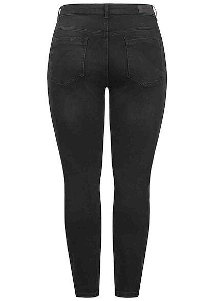 ONLY Carmakoma Damen NOOS Curvy Skinny Jeans 5-Pockets schwarz denim