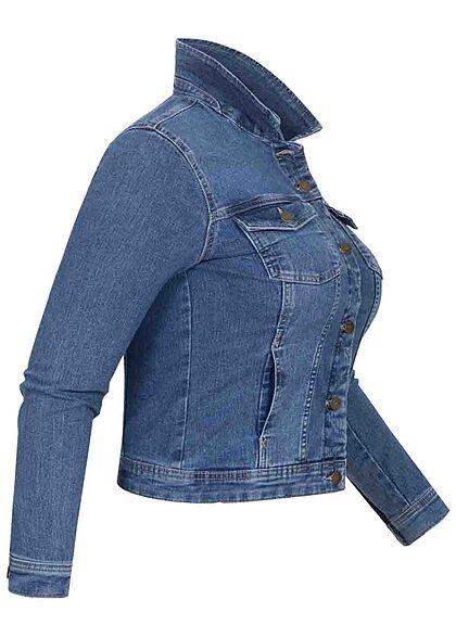 ONLY Carmakoma Damen NOOS Curvy Jeans Jacke 4-Pockets medium blau denim