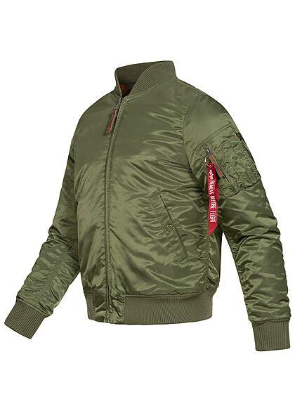 Alpha Industries Herren Basic Nylon Fliegerjacke 2-Pockets Slim Fit sage grün