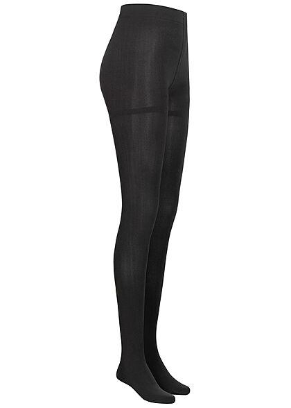 ONLY Damen Fleece Strumpfhose Gummibund schwarz