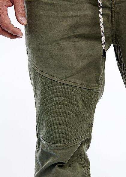Urban Surface Herren Biker Stoffhose 5-Pockets Tunnelzug Rippbündchen ivy oliv grün