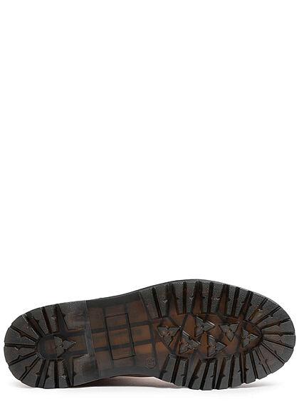 Seventyseven Lifestyle Damen Schuh Halbstiefel in Velour- Optik khaki