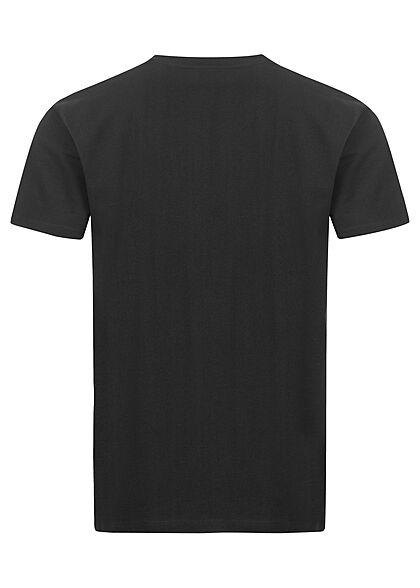 Stitch & Soul Herren T-Shirt mit Brusttasche Box-Fit schwarz
