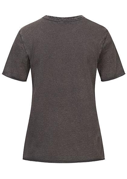 ONLY Damen T-Shirt mit Print DREAM washed schwarz gold