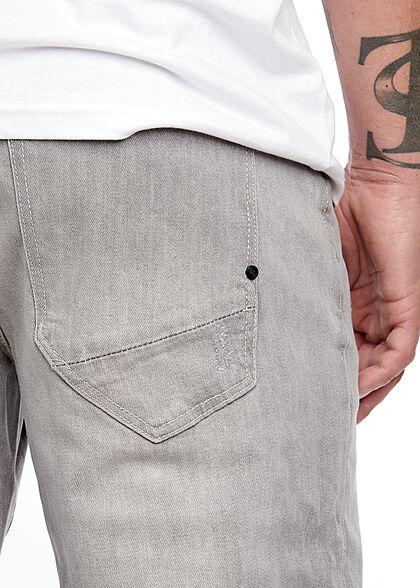 Brandit Herren Jake Denim Jeans Hose Stone Washed Optik grau