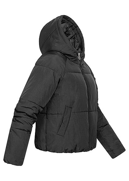 ONLY Damen Puffer Steppjacke Kapuze 2-Pockets schwarz